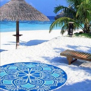 Mandala terry beach towel